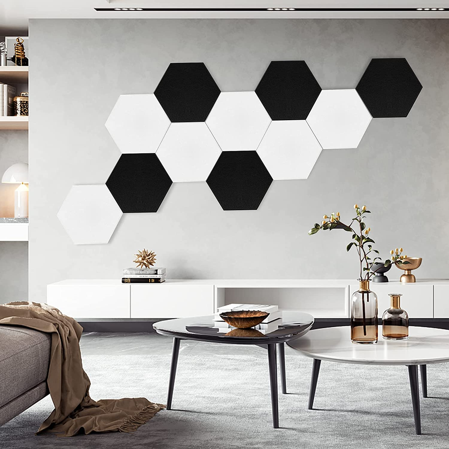 YeCheng 6 Pack Hexagon Acoustic Panels with D 4 Great interest years warranty High Tape Adhesive