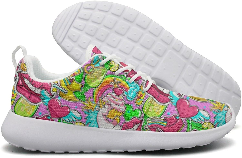 ERSER Pink Unicorn Red Lips Heart Crown Heel Trail Running shoes for Women