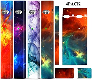 4 Pack Starry Sky Skin Wrap Decal Case for Juul and Charger, Friction Feeling Scratch-proof Sleeve Shield Cover Case Cap Decal, Accessories Fit for JUUL (No Device Included, Contain Charge Cover)