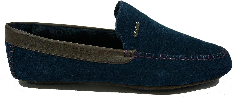 Ted Baker Men's Moriss 2 Classic Moccasin Slipper EU 45 UK 11 Dark bluee