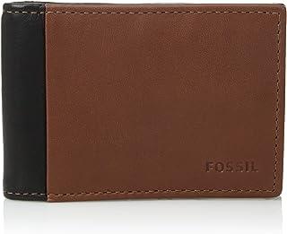 e8fa6528538f Fossil Men s Ward Leather RFID Blocking Bifold Flip ID Wallet