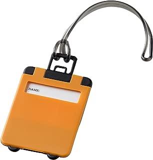 Bullet Taggy Luggage Tag (UK Size: 9.5 x 5.5 x 0.4 cm) (Orange)