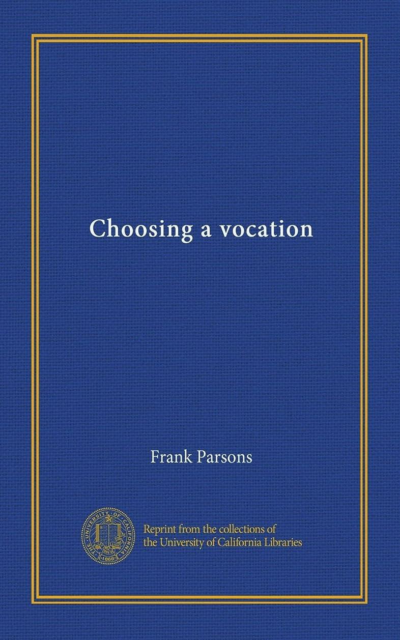 数値尊敬するスリンクChoosing a vocation