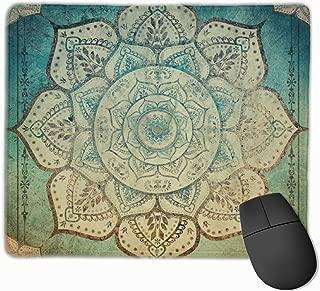 Faded Bohemian Mandala Mouse Pad Non-Slip Rubber Base Gaming Mousepad for Office Computer Laptop