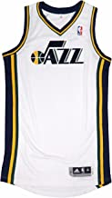 adidas Utah Jazz NBA White Official Authentic On-Court Revolution 30 Home Jersey for Men