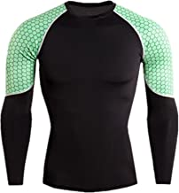 zoulouyou Herren Kompressions Shirt Langarm Funktionsshirts Baselayer Fitness Base Layer Basic Bodywear Trainingsanzug Tops