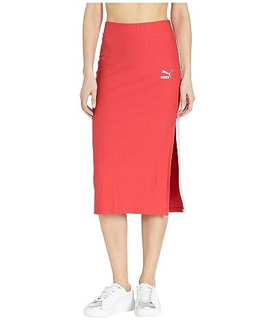 PUMA Classics Rib Skirt (Hibiscus) Women
