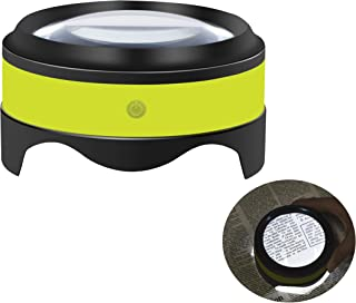 Magnifier, Rechargeable Dylviw 5X Desktop Magnifying Glass with Bright LED Lights, Large Viewing Area, Ideal for Reading, Hobbies, Crafts, Workbench, Low Vision - Carrying Case Included