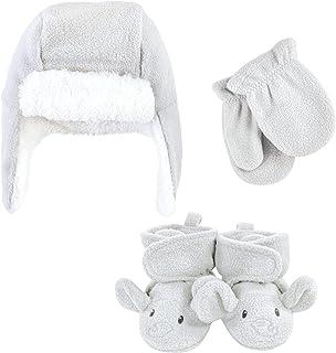 Hudson Baby Unisex czapka łapająca dzieci, zestaw rękawiczek i butów, szary słoń, 18-24 miesiące