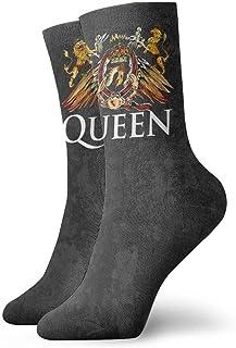 Kevin-Shop, Queen Rock Bend Freddie Mercury Crew Socks Calcetines Deportivos con diseño de Tobillo para Hombres y Mujeres