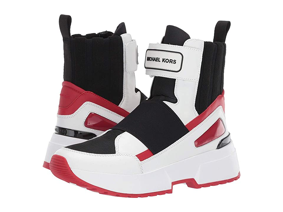 MICHAEL Michael Kors Cosmo High Top (Optic White/Scarlet) Women