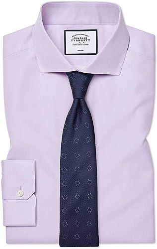 Chemise à Col Cutaway En Popeline violets Super Slim Fit Sans Repassage   violets (Poignet Mousquetaire)   17   35
