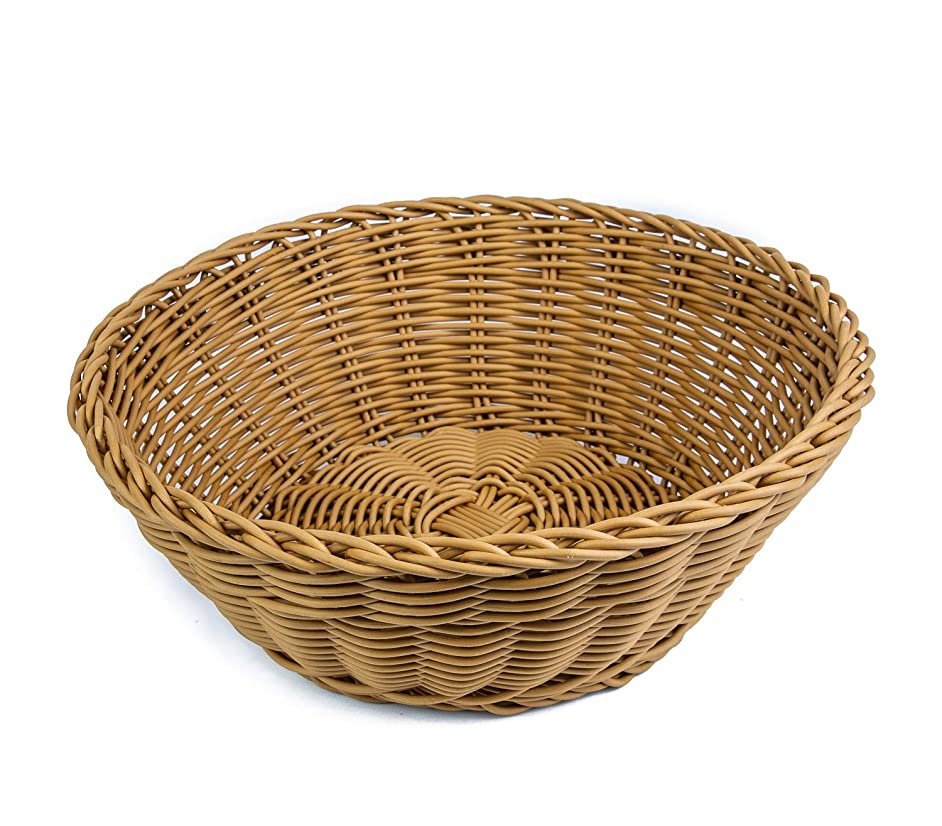 KOVOT Poly-Wicker Round Basket - 10.5