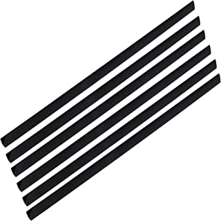 FIS Plastic Sliding Bar 3mm, 30 Sheets Capacity, Black Color, Box of 100 Pcs. - FSPG03-BK