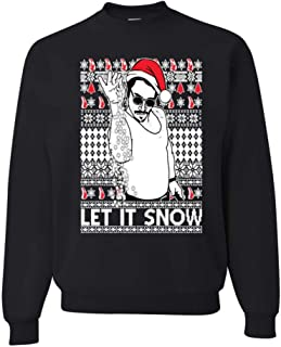 Salt Bae Let it Snow Funny Xmas Ugly Christmas Sweater, Holiday Sweater, Christmas Gift