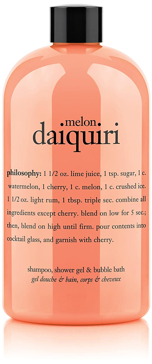 受け皿寛大な話をするPhilosophy Melon Daiquiri Shampoo, Shower Gel & Bubble Bath (並行輸入品)