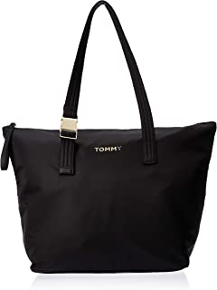 Tommy Hilfiger Nylon Tote Bag, Black, 47 cm - AW0AW07696