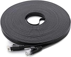Cat 6 Ethernet Cable Black 150 ft (at a Cat5e Price but Higher Bandwidth) Flat Internet..
