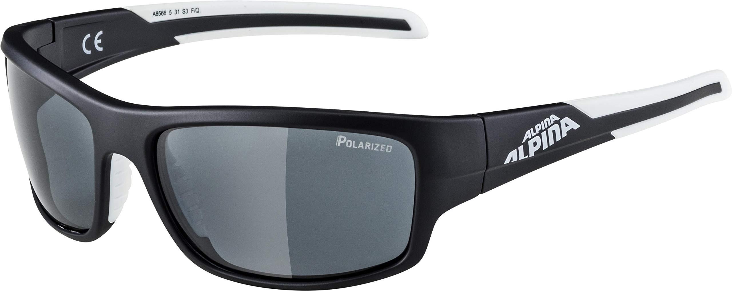 ALPINA Unisex - Erwachsene, TESTIDO P Sportbrille, black matt-white, One size