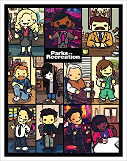 Culturenik Parks and Recreation Cartoon Characters Workplace Comedy TV Television Show Poster Print, Unframed 11x14