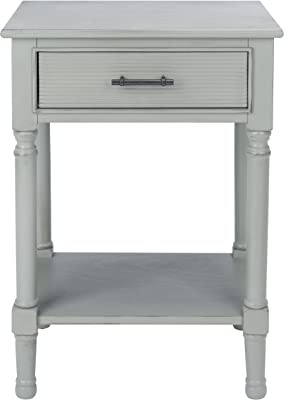 Safavieh Home Collection Ryder Distressed Grey 1-Drawer Bottom Shelf Accent Table ACC5713C