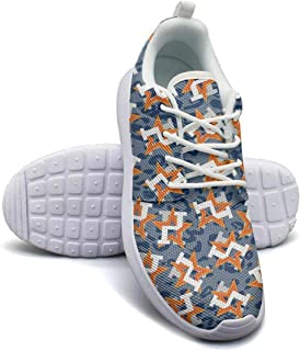 Camouflage Orange Star Baseball Girl Skateboard Casual Shoes Simple Classic Running Shoes