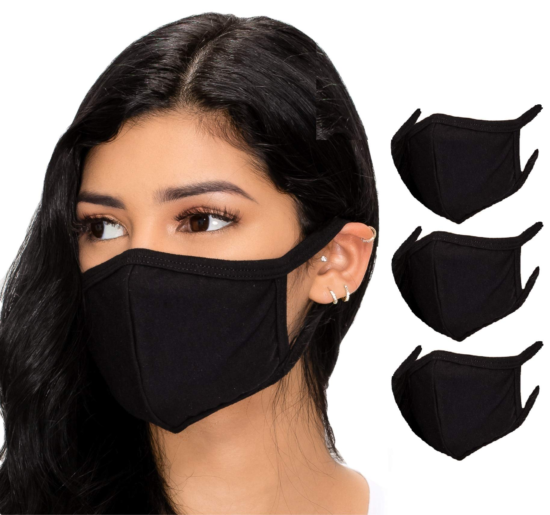 Reusable Cotton Comfy Breathable Material Pack 3 Dust Mouth Cover