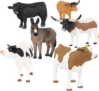 Terra by Battat – Farm Animal Set – Realistic Cow Toys, Bull Toys, and Farm Animal Toys for Kids 3+ (6 pc)