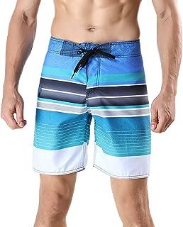 Men's Quick Dry Swim Trunks Colorful Stripe Board Shorts