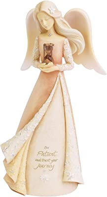 Enesco Foundations Virtues Angel of Patience Figurine, 7.68 Inch, Multicolor
