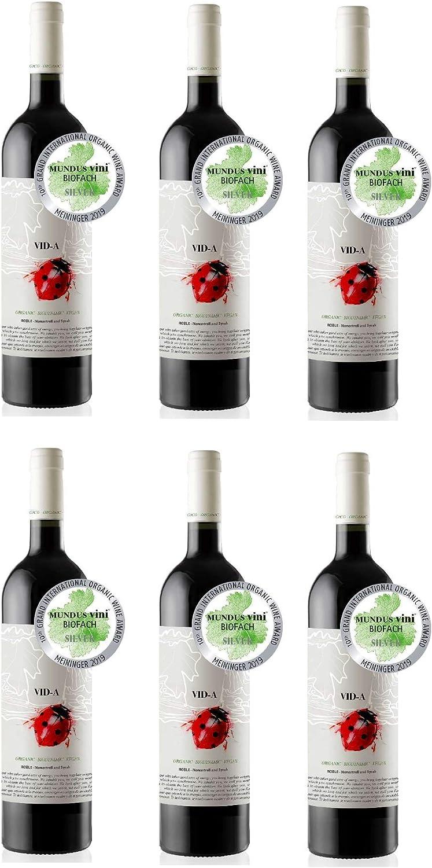 Vino tinto Roble ecológico VID-A 70% Monastrell – 30% Syrah DOP Alicante [CAJA DE 6 BOTELLAS]