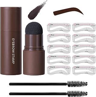 Eye-Brow Stamp Stencil Kit, Waterproof Brow Stamp Shaping Kit Eyebrow Definer, Eyebrow Filling Powder Stamp, Women Makeup ...
