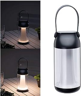 Paulmann 94267 Luminaire Rechargeable à LED Outdoor Cupulino Rond INCL. 1x1,3Watts gradable Éclairage Mobile Transparent,...