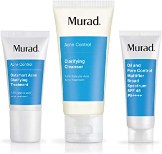 Murad Get Over Zit Kit - Acne Control Regimen | Clarifying Cleanser, Treatment and SPF | 3 Piece Kit