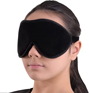 Sleep Mask Blindfold Eye Shades - 100% Light Blocking - Blackout Sleeping Mask is Comfortable for Relaxation Migraines Insomnia - Travel Mask is Soft with Ear Plugs 1 Set