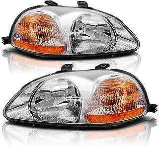 Headlight Assembly for 1996 1997 1998 Honda Civic 33151-S01-305 33101-S01-305