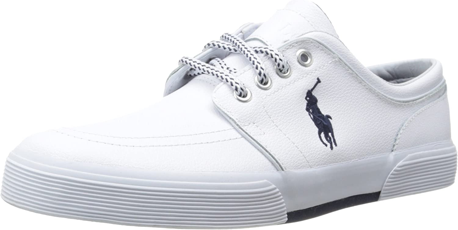 Polo Ralph Online limited product Lauren Max 52% OFF Men's Faxon Leather Sneaker Fashion