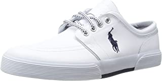 Polo Ralph Lauren Mens Faxon Leather Fashion Sneaker