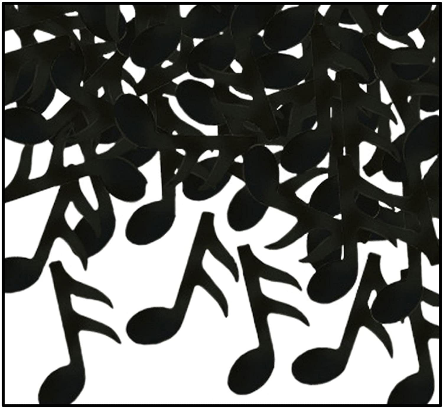 Party Central Club Pack of 12 Black FanciFetti Musical Note Celebration Confetti Bags 1 oz.