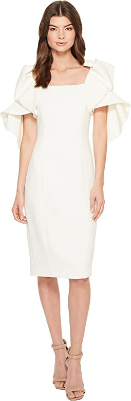 Badgley Mischka - Origami Sleeve Butter Crepe Dress