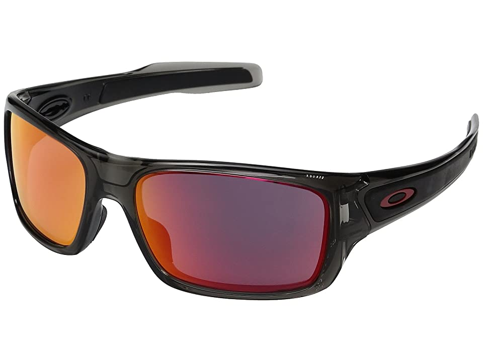 Oakley Turbine XS (Grey Smoke w/ Ruby Iridium) Fashion Sunglasses