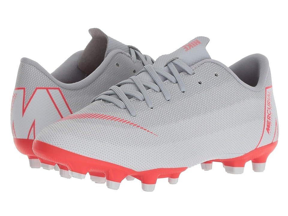 Nike Kids Vapor 12 Academy MG Soccer (Toddler/Little Kid/Big Kid) (Wolf Grey/Light Crimson/Pure Platinum) Kids Shoes
