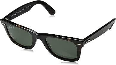 Ray-Ban RB2140 Wayfarer Sunglasses, Tortoise/Polarized Green, 50 mm