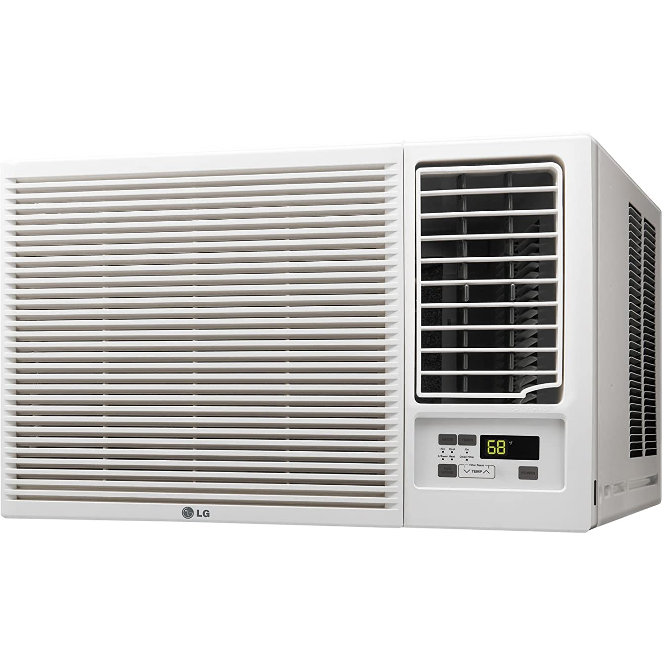 LG ENERGY EFFICIENT 12,000 BTU Air Conditioner Unit (Slide In-Out Chassis) with SPECIAL 230V Plug, Multiple Cooling/Heating Speeds and 24 Hour Timer, FREE Remote Control Included
