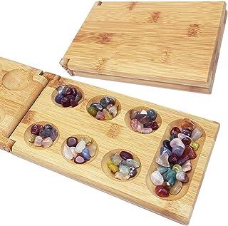 RonPero マンカラ 木製 折り畳み式 ボードゲーム クラシックゲーム
