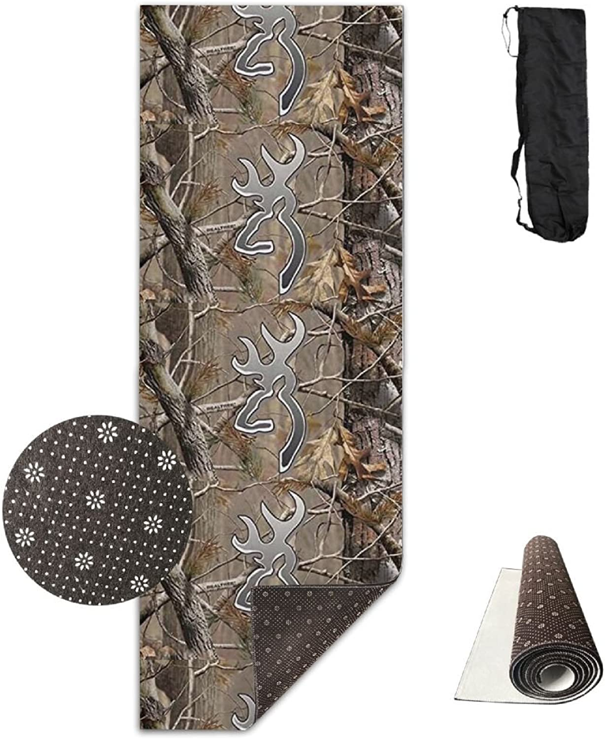 Camouflage Realtree Sporting Extra Thick Yoga Mat With No Stick Ridge