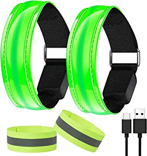 AivaToba LED Armband, Flashing Armband Running Lights for Runners Men and Women,Reflective Led Safety Armband Light-up Led...