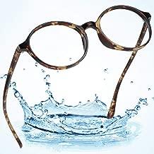 LifeArt Blue Light Blocking Computer Glasses, Transparent Lens Filter UV400,Alleviate Headache [Anti Eye Eyestrain],Stylish Reading Glasses for Women/Men (LA_Poetic_Tortoise,No Magnification)
