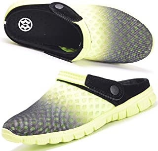 Hsyooes Garden Clogs Mens Womens Summer Breathable Mesh Slippers Yard Mule Non-Slip Outdoor Beach Sandals Unisex Casual Sp...