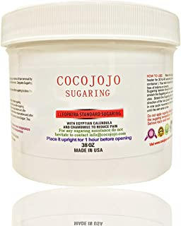 38 Oz Cocojojo Sugaring Hair Removal Paste to Use with Hands NEW Formula with Argan and Teatree Oil - Honey Sugar Wax , Honey Sugaring Hair Removal 100% Natural Paste + How to Use Brochure